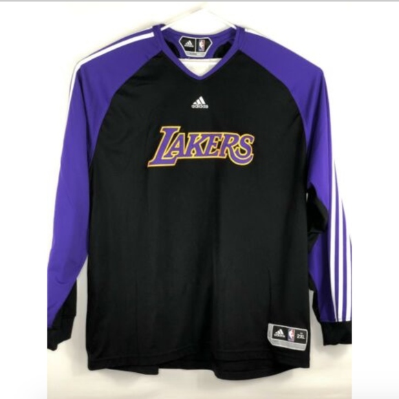 Lakers Long Sleeve Warm Up Jersey Mens XXL